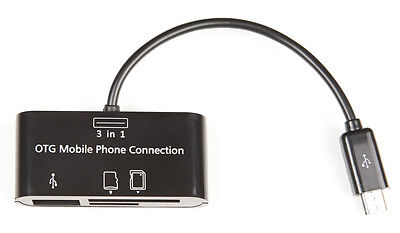 Micro USB OTG Card Reader for Android Phones, Trail / Game / Action Cameras