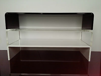 Perspex Acrylic Monitor TV I mac Sonos Riser Retail Display Plinth Stand Shelf