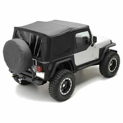 1997-2006 Jeep Wrangler Black Replacement Soft Top & Tinted Windows Kit 9970235