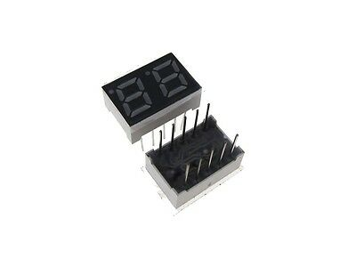 """0.28"""" 2 Digit 7-Segment LED Display DIP common cathode - Red - Pack of 2"""