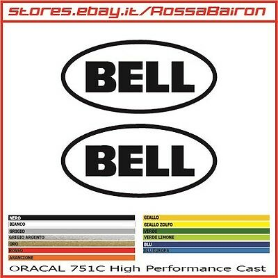 KIT 2 ADESIVI BELL mm.100x47 - STICKERS AUFKLEBER PEGATINAS DECALS