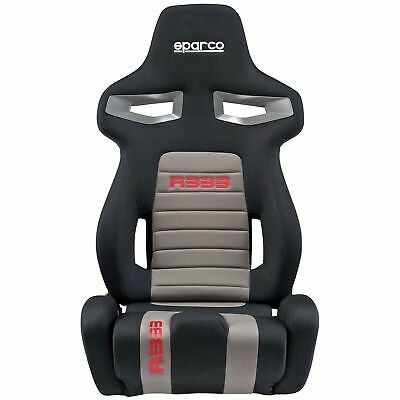Sparco R333 Forza Deep Bolster Reclining Seat - Track/Motorsport, Black/Grey/Red
