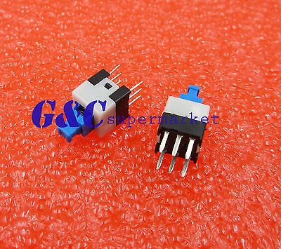 20Pcs Latching 7x7mm Mini Tactile Push Button Switch On-Off DIP-6pins HOT SALE
