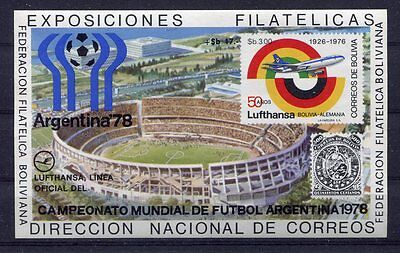 s5271) BOLIVIA 1978 MNH** WC Football - Coppa Mondo Calcio S/S