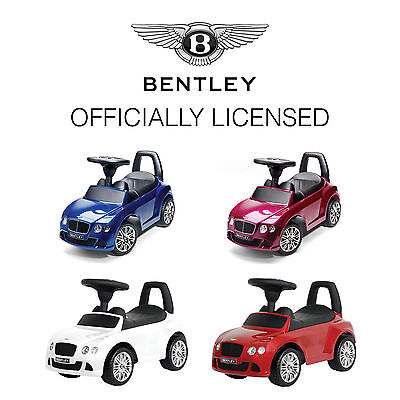 Bentley GT Toddler Boy & Girl Baby Childrens Ride On Toy Push Along Storage Car