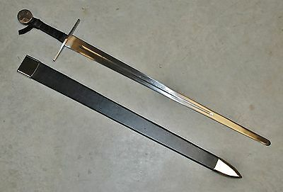 Medieval Excalibur Claymore Stainless Steel Crusader Sword with Scabbard