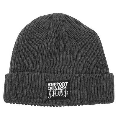 Creature SUPPORT YOUR LOCAL CREATURE Skateboard Beanie CHARCOAL