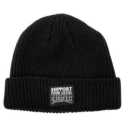 Creature SUPPORT YOUR LOCAL CREATURE Skateboard Beanie BLACK