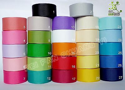 "5Yard 25Yard 100 Yard Solid Color 7/8"" 22mm Grosgrain Ribbon 27 Color Options"