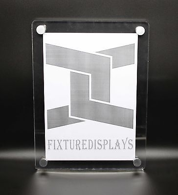 Clear Acrylic Plexiglass Lucite Wall Mounted Sign Holder 10772-3 8511