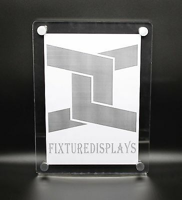 Clear Picture Frame Acrylic Sign Holder Lucite Poster Display Wall Mount Holder