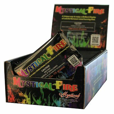 Mystical Fire Flame Colorant, 25-Count Pouch Box Vibrant flame colors BRAND NEW.