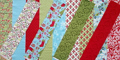 12 DAYS OF CHRISTMAS MODA KIT Kate Spain Fabric Eighth Yd Strips + Craft Pattern