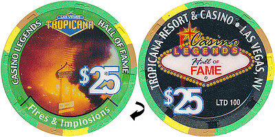 Tropicana $25 Dunes Hotel Implosion Casino Chip Las Vegas Nv Free Shipping