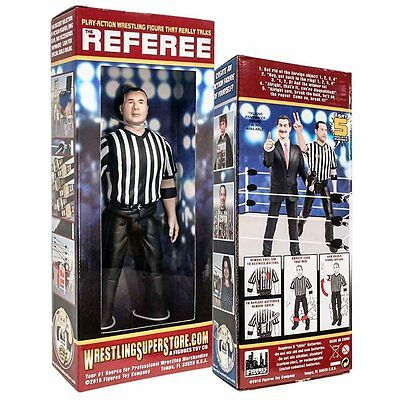 Three Counting and Talking Wrestling Referee Action Figure by Figures Toy XTS