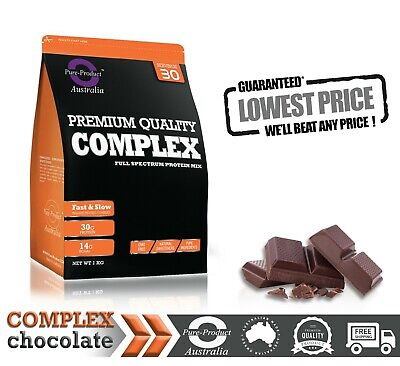4KG Pure Complete Whey Protein Blend WPI/WPC/Casein Powder - CHOCOLATE
