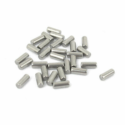 2.5mm x 6mm 304 Stainless Steel Dowel Pins Fasten Elements Silver Tone 30pcs