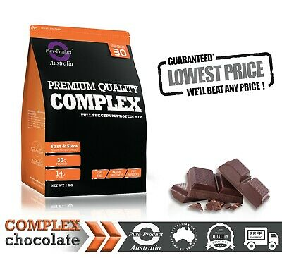 2KG Pure Complete Whey Protein Blend WPI/WPC/Casein Powder - CHOCOLATE