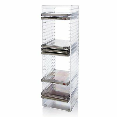 CD Tower - holds 30 standard CD jewel cases Dimensions: 5-1/2 by US Acrylic, LLC
