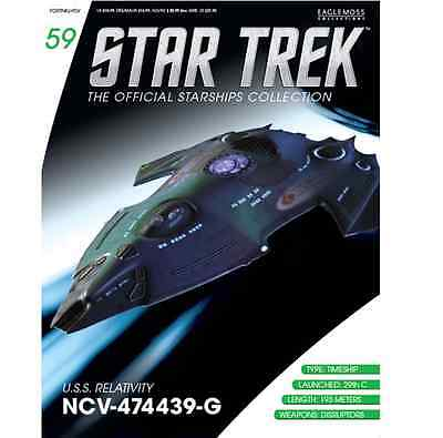 Star Trek Official Starship Collection #59 USS.Relativity NCV-474439 Eaglemoss