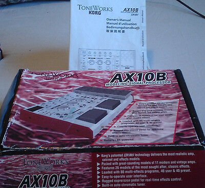 KORG AX10B Bass Modeling Signal Processor (in box - used) by Tone Works
