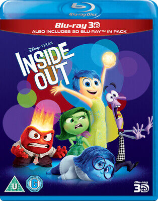 Inside Out Blu-Ray (2015) Pete Docter cert U 2 discs FREE Shipping, Save £s