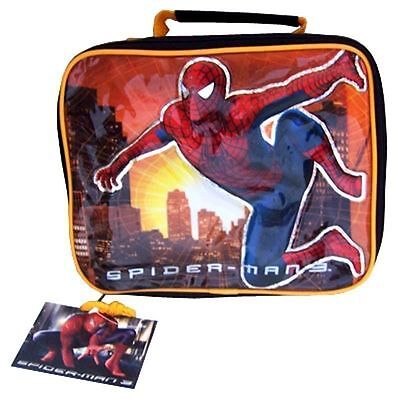 Lunch Bag Insulated Marvel Spider-Man 3 Building Sunset Black Yellow NWT