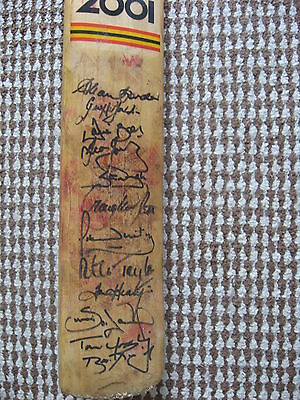 Allan Border Match Used Bat Signed By Team 1992 World Cup