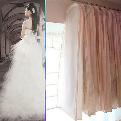 Bridal Wedding Dress Gown Garment Dustproof Storage Bag Cover Evening Protector