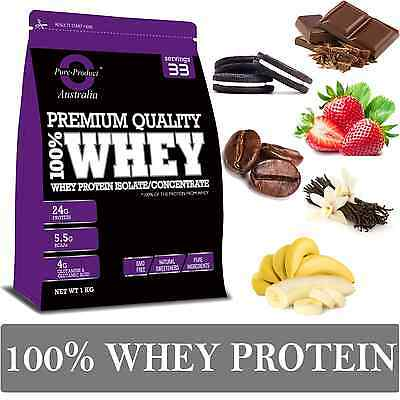 2Kg  -  Whey Protein Isolate / Concentrate - Cookies & Cream - Wpi Wpc Powder