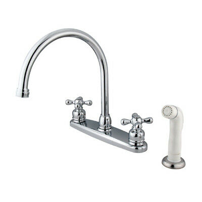 Kingston Brass Vintage Double Handle Kitchen Faucet with Side Spray KBBB3213