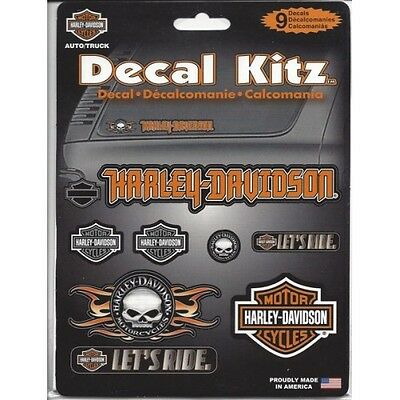 Harley-Davidson Assorted Decal Kitz 9pc free shipping