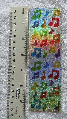 Mrs Grossman SPARKLE MUSIC NOTES, MULTI Stickers