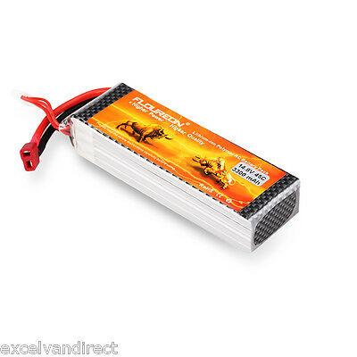 4S 14.8V 3300mAh 45C Li-Po RC Battery Deans for RC Car Helicopter Airplane Truck