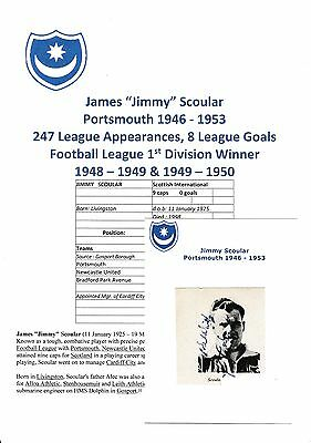 Jimmy Scoular Portsmouth 1946-1953 Rare Original Hand Signed Annual Cutting