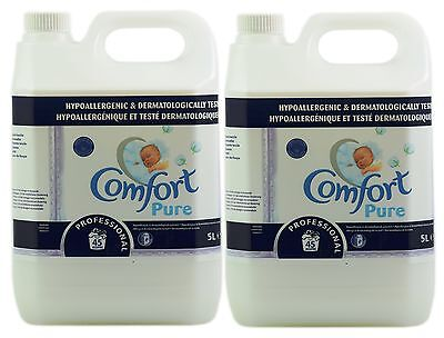 2x Comfort Pure 5L Professional Fabric Conditioner 90 Washes