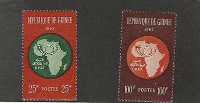 Guinea, Postage Stamp, #234-235 Mint LH, 1962