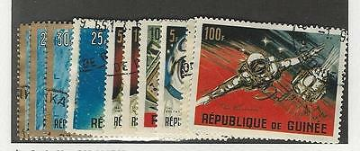 Guinea, Postage Stamp, #382-393 Used, 1965 Space