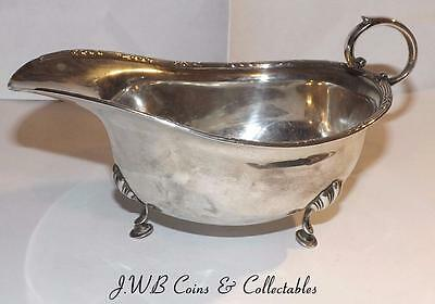 Antique Solid Silver Sauce Boat Hallmarked Birmingham 1919 H W & Co