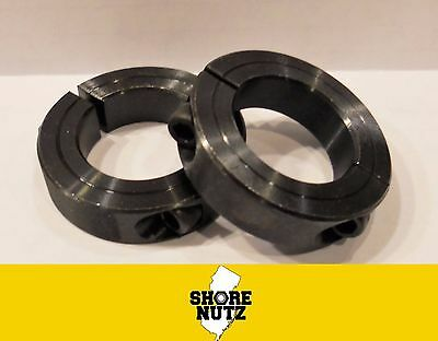 "(2) 3/4"" Double Split Steel New Clamping Shaft Collar Black Oxide  Sc75D Sc075D"