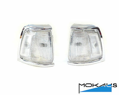 Toyota Hilux 2wd 1988-1997 park corner lights pair (chrome)