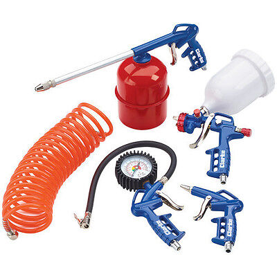 Clarke KIT1100 5 Pce Air Tool Kit Spray, Air Wash & Air Blow Guns, Tyre Inflator