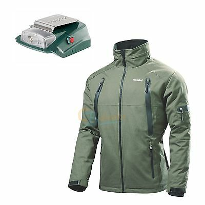 Metabo Heizjacke Hja 14,4-18 Volt Größen M L Xl Xxl  Inkl. Power Adapter Led-Usb