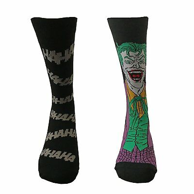 Official DC Comics The Joker Assorted Socks - 2 Pairs Retro Gift Pack 7-11