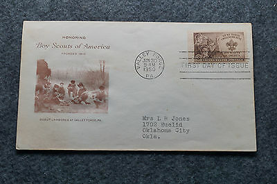 Vintage 1950 Boy Scouts of America First Day Cover Stamps