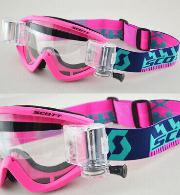 2016 SCOTT RECOIL XI MOTOCROSS MX GOGGLES FLOU PINK with GSVS ROLL-OFF SYSTEM
