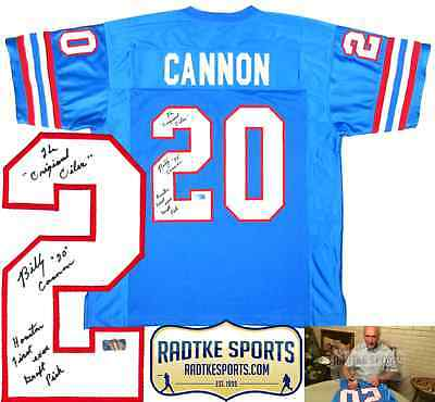 2faa66c4c BILLY CANNON AUTOGRAPHED Signed   Inscribed White LSU Tigers Jersey ...