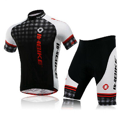 Inbike Men's Cycling Kit Suit Short Sleeve Riding Biking Jersey and Shorts Set