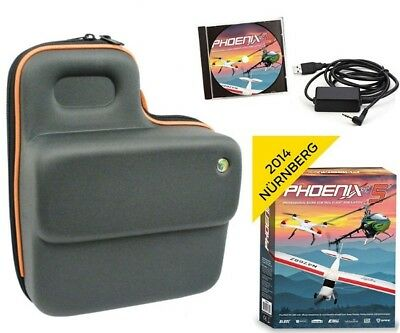 Phoenix R/C Pro Flight Simulator / Sim V5.0 w/ Atomik Transmitter Bag DX5 / DX6I