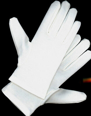 NW2100C-2BL Cotton Wrist Gloves Costume Dress Theater Santa One Size White